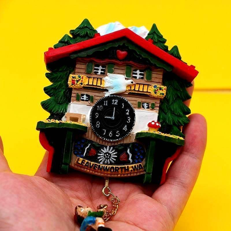 Imanes de Relojes de Cuco (1 Ud.) RETRO/VINTAGE Frigo Imanes
