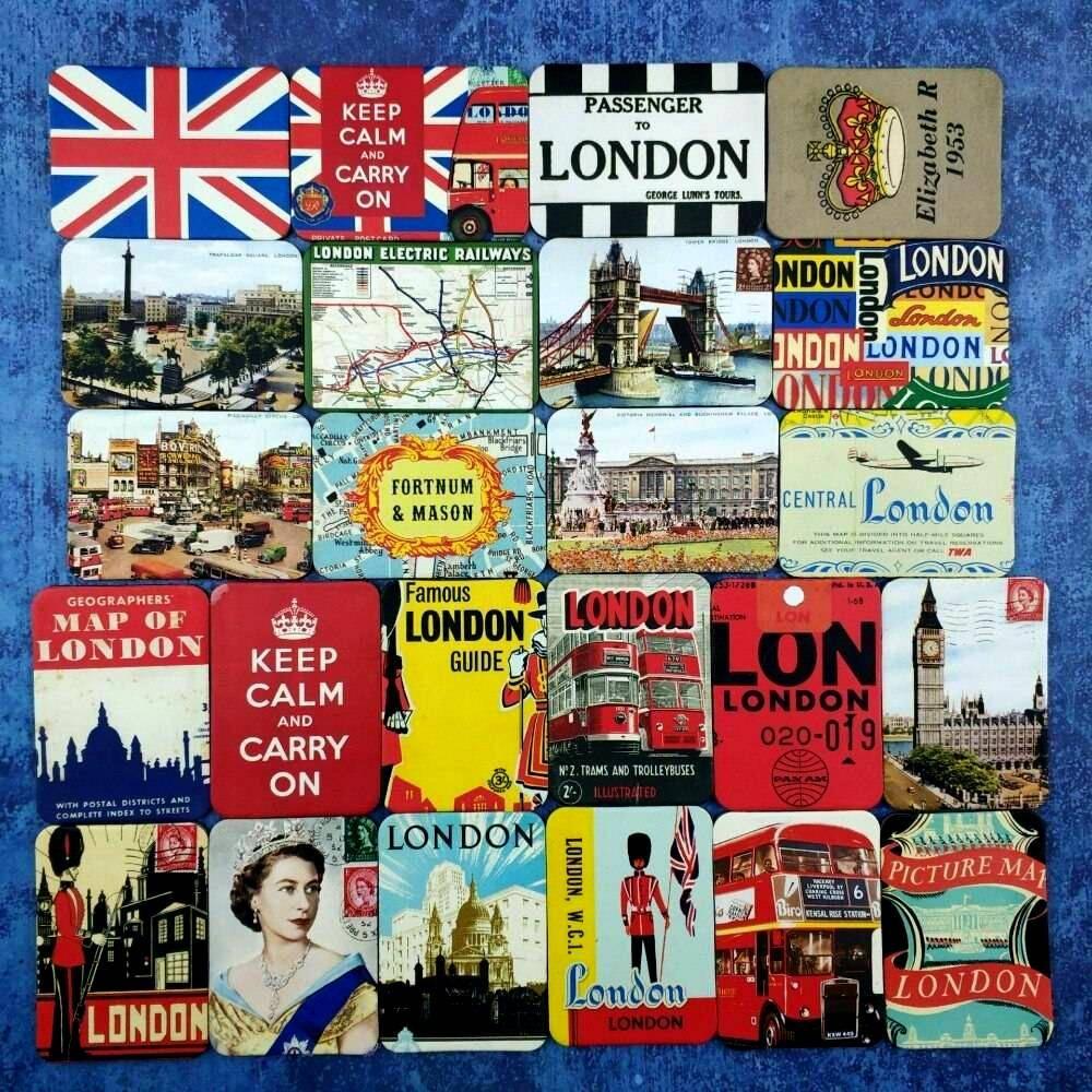 Lotes de 24 Imanes Retro de Ciudades y Vintage IMANES POR LOTES RETRO/VINTAGE SOUVENIRS Frigo Imanes